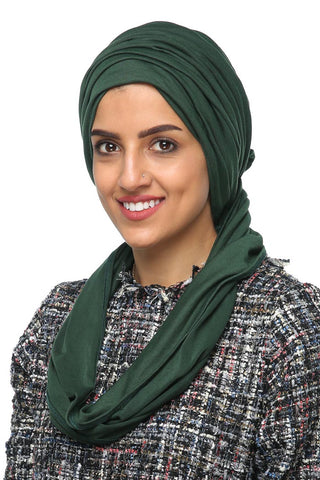 3 Layers Turban - Leaf Green - Gingerlining