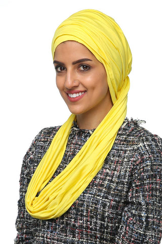 3 Layers Turban - Sunflower Yellow