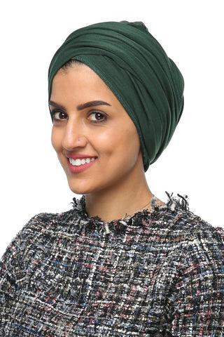 Multi-way Wrap Turban - Leaf Green - Gingerlining (477333585958)