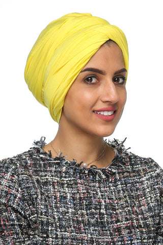 Multi-way Wrap Turban - Sunflower Yellow - Gingerlining