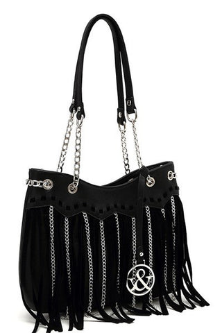 Fashion Chain Fringe Satchel - Gingerlining