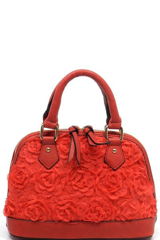 Floral handbag - Red - Gingerlining