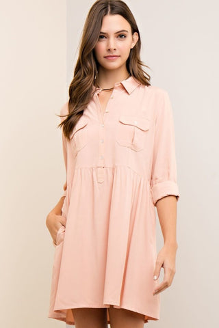 Button-Down Safari Shirt / Dress