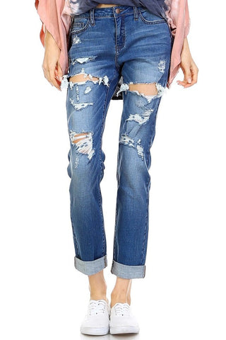 Boyfriend Jeans- Medium Denim - Gingerlining