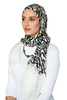One Piece Full Cover Lace Turban - Zebra White Lace
