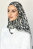 One Piece Full Cover Lace Turban - Zebra White Lace (4037227872300)