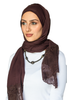 One Piece Full Cover Lace Turban - Dark Brown / Dark Brown Lace (1706712858668)