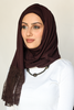 One Piece Full Cover Lace Turban - Dark Brown / Dark Brown Lace