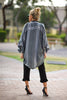 Rock Around The Pom Poms Kimono - Black - Gingerlining