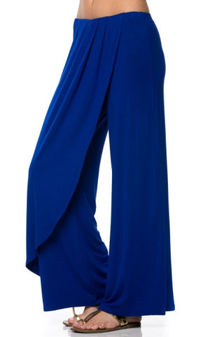 Jersey Pants with Overlay- Blue - Gingerlining (7730404232) (6208663322798)