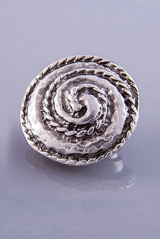 Silver Plated Magnetic Brooch - Camila