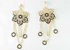 Hanging flower Earnings - Gold