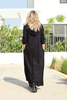 Long Hoodie Dress With Side Pockets - Black/Faith Over Fear (6068262273198) (6309349261486)