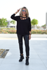 Neckline Cut-Outs Sweater Top (6069158346926)