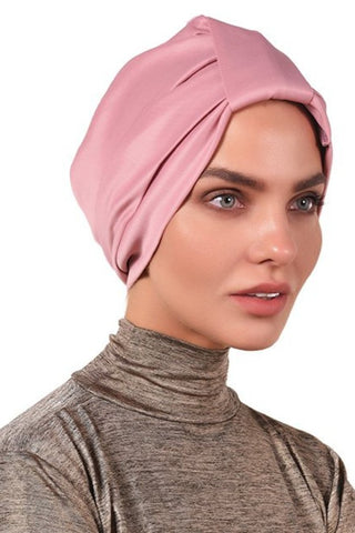 Lycra Tab Turban - Dusty Pink - Gingerlining