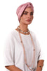 Lycra Tie Bow Turban - Dusty Pink - Gingerlining