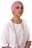 Lycra Tie Bow Turban - Dusty Pink - Gingerlining (723059376172)