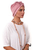 Lycra Fan Turban - Dusty Pink - Gingerlining