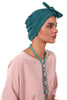 Lycra Fitted Pleat Turban - Jade - Gingerlining (723035389996)