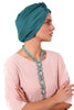 Lycra Fan Turban - Jade - Gingerlining (723042172972)