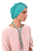Simple Fan Turban - Green&Yellow - Gingerlining (723046301740)