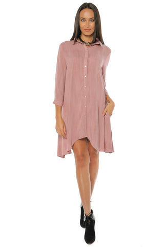 Challi Shirt / Dress - Mauve - Gingerlining
