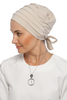 Simple Drape Tie Turban  - Cream (1365512257580)