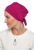 Simple Drape Tie Turban  - Dark Pink (1365510455340)