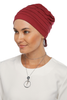 Simple Drape Tie Turban - Burgundy (1365509242924)
