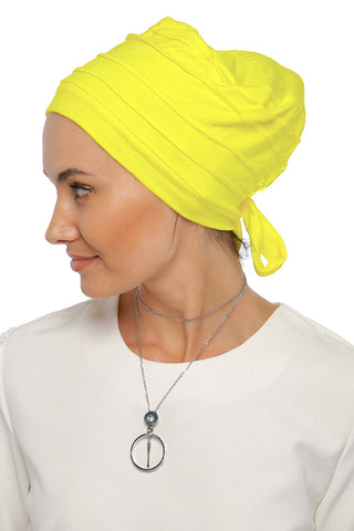 Simple Drape Tie Turban - Sunflower Yellow (1365501149228)