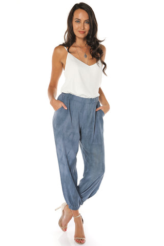 Casual Faded Pants - Denim - Gingerlining