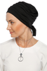 Simple Drape Tie Turban  - Black
