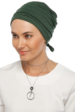Simple Drape Tie Turban - Leaf Green (1365494136876)