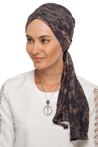 Multi-way Wrap Turban - Remix (Brown/Black) (1063934296108)