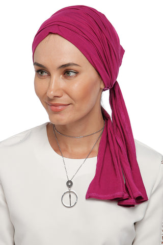Multi-way Wrap Turban - Dark Pink (1063867547692)