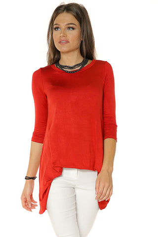 A-Line Tunic Top- Rust - Gingerlining (7918198216)