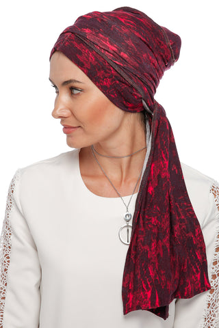 Multi-way Wrap Turban - Remix (Red/Black) (1063932198956)