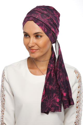 Multi-way Wrap Turban - Remix (Pink/Black) (1063919288364)
