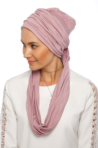 3 Layers Turban - Powder Pink