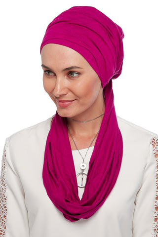 3 Layers Turban - Dark Pink (1063862337580)