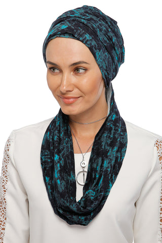 3 Layers Turban - Remix (Blue/Black)