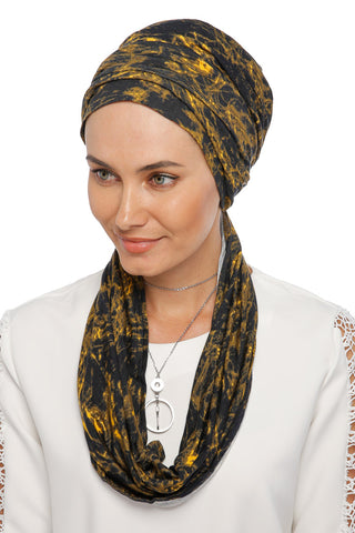 3 Layers Turban - Remix (Yellow/Black)