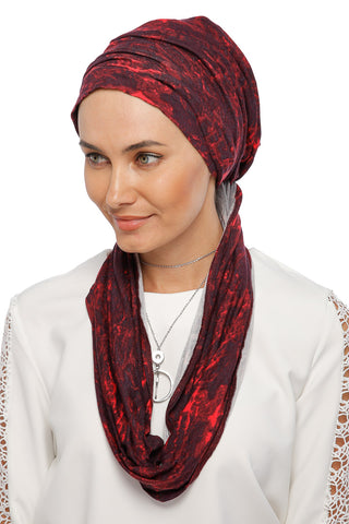 3 Layers Turban - Remix (Red/Black)