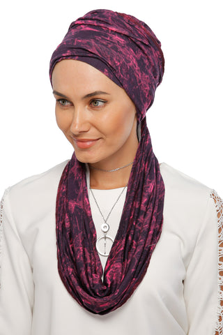 3 Layers Turban - Remix (Pink/Black)
