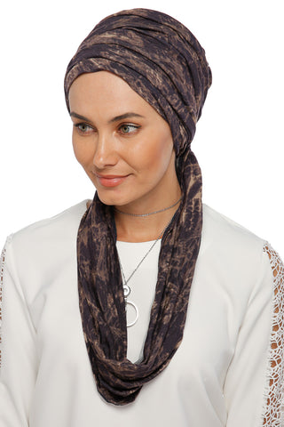 3 Layers Turban - Remix (Brown/Black)