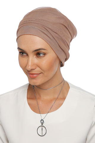 Tulle Simple Turban - Cafe Brown