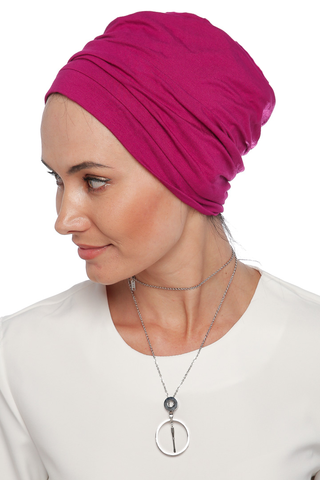 Simple Drape Turban - Dark Pink (1063873183788)