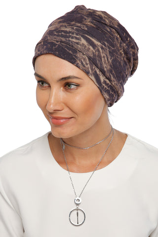 Simple Drape Turban - Remix (Brown/Black) (1063991705644)
