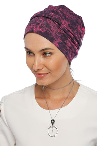 Simple Drape Turban - Remix (Pink/Black)