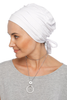 Simple Drape Tie Turban - White (1365491449900)